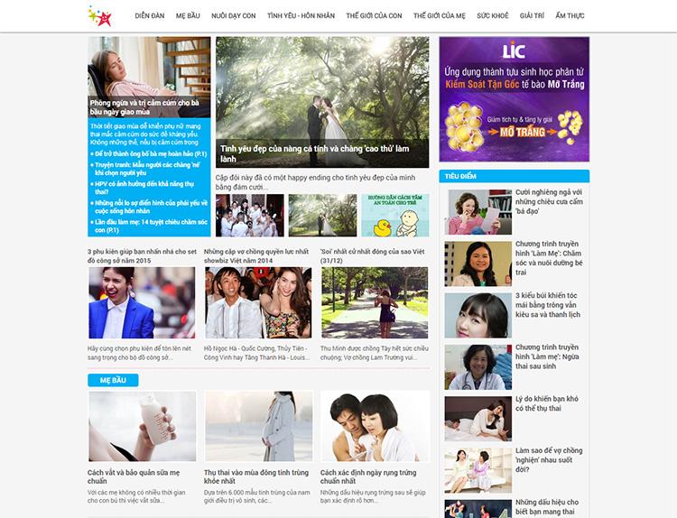 Thiết kế website tin tức, tạp chí online