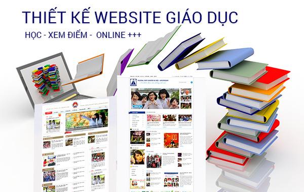 Thiết kế web Giáo Dục - Trường học