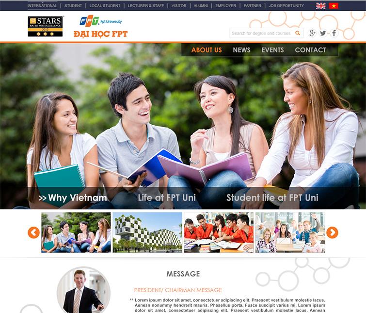Thiết kế website trường đại học quốc tế FPT