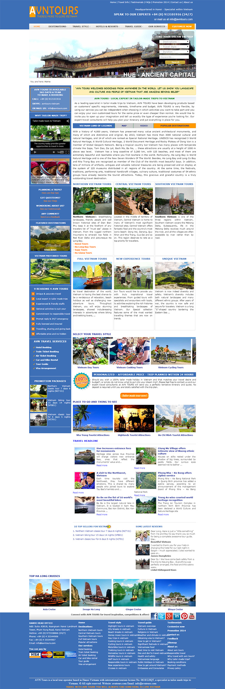 Thiết kế website du lịch đặt tours
