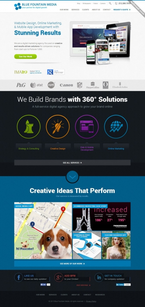 top design company bluefountainmedia nyc